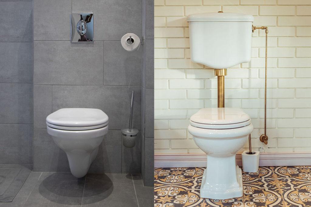 WC à poser ou WC suspendu