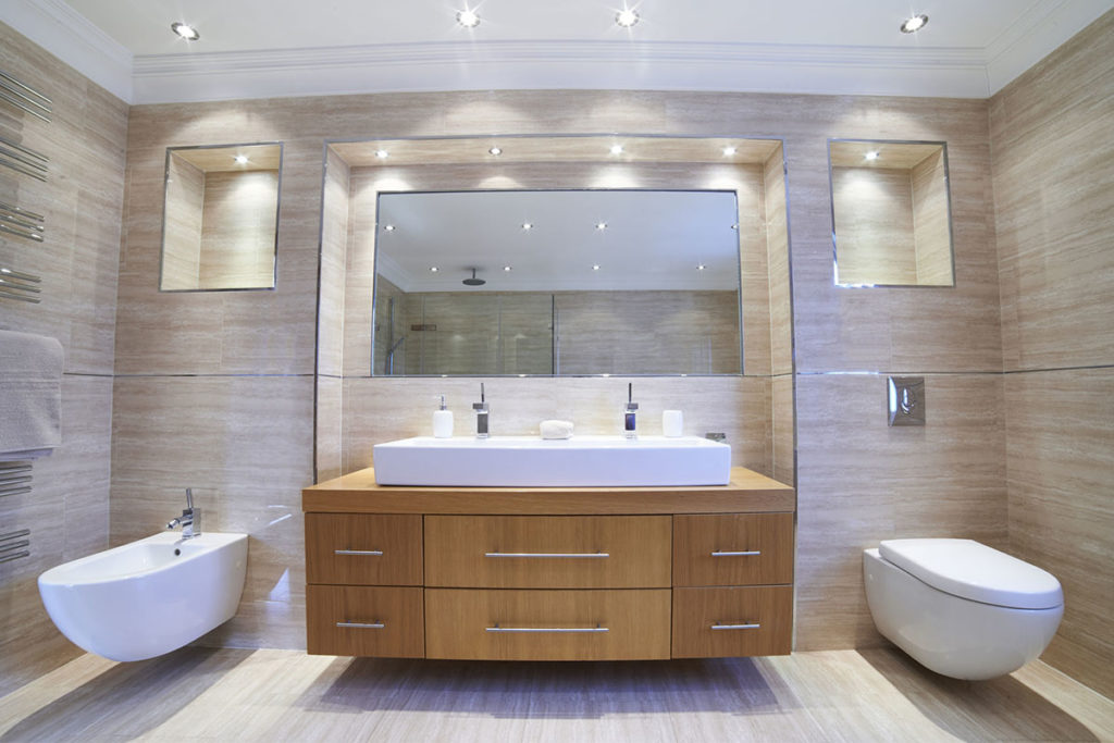 éclairage de salle de bains